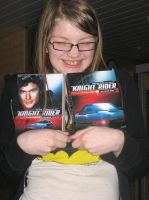 Me hugging my Knight Rider DVDs by SnowxChan