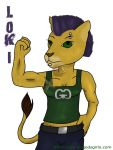 Digitized Doodle: Loki Lion by Catwoman69y2k