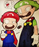 Super Mario Brothers by Qoutex