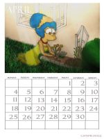 Simpsons Calendar April 2011 by ChnProd22