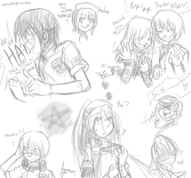 Trauma Center speed sketches by Amaranth-Pink