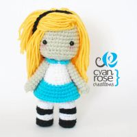 Alice Inspired Crochet Amigurumi Plush Doll by CyanRoseCreations