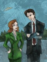 Agent Mulder, Agent Scully by SmudgeThistle
