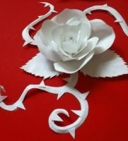 Rose Paper Craft by tiffc