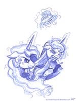 Luna and Celestia 2 by KP-ShadowSquirrel