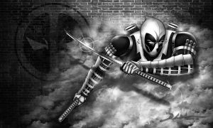 Deadpool - black/white version by dnewlenox