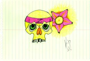 Another Skull Sketch by kwpatrick