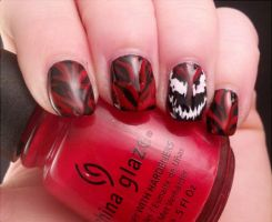 Carnage nails by AStudyInPolish