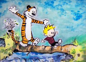 Calvin and Hobbes river by SmokyPixel