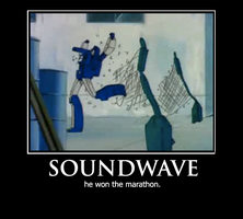 Soundwave Motivational Poster by CorporalPanthera