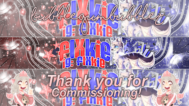 Finished banner for Flxkie! by Princess2641AJ
