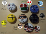 Finished Hollywood undead Magnets by GingaAkam