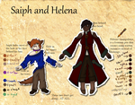 CM Saiph and Helena Ref by CerberusReigns