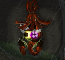 SKULL KID CRYIN' IN THE RAIN by Vasheren