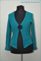 Turquoise Cardigan by NitkaAG