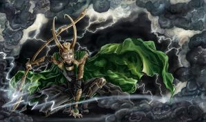 Loki, the God of Mischief - Colored by ciacheczko
