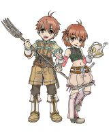 Aaron and Aria - Colored by AustralAnima
