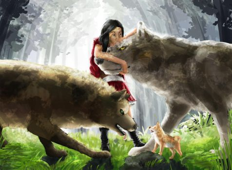 Faus and the Wolves by wanton-fox