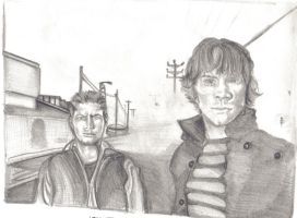 Sam and Dean - misty avenue by Anita-Sanderson