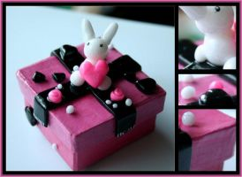 Pink Bunny Box by Shiritsu