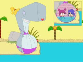 Look Out For The Bikini Whale! by Kphoria