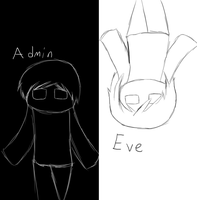 Admin and Eve by MonochromeFuji