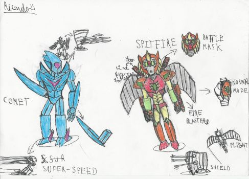 Comet and Spitfire by RedFire11