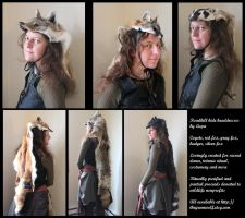 Roadkill headdresses for sale! by lupagreenwolf