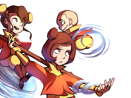 The Airbender Kids by Karzahnii