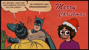 Christmas with Batman by Evil-Within-Me