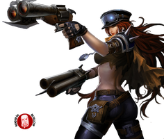 LEAGUE OF LEGENDS RENDERS: RoadWarriorMissFortune by o0TsubasaNoTenshi0o