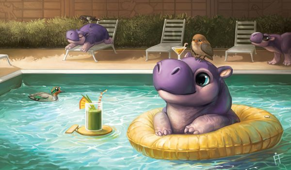 Creature Collection: Hippo by ALRadeck