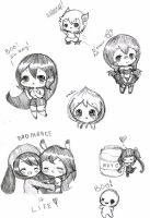 Chibi Doodles by Ask-MusicPrincess3rd