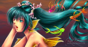 Miku: Skeleton Fishes' Song by rae-shi