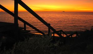 Stairway to  sunset heaven by LouisStone