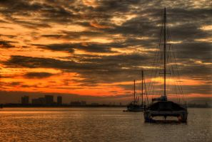Sunrise view of Chew Jetty, penang by fighteden