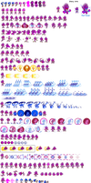 Dark spine sonic spritesheet by evolvd-studios