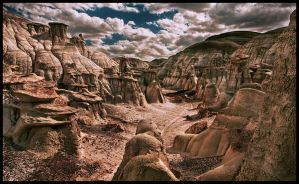Bisti Badlands Planet Earth? by kimjew