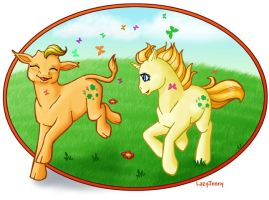Baby Lucky Leaf and Baby Leafy by LazyJenny