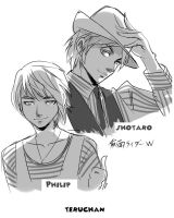 Shotaro and Philip by Teruchan