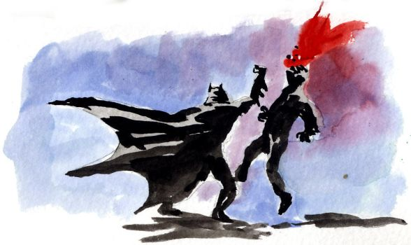 Batman punch by Blebot