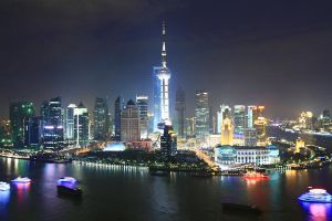 shanghai skyline 2 by Sternfeuer