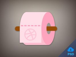 Free Flat Toilet Paper Icon - PSD by junoteamvn