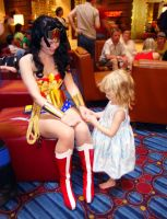Wonder Woman and small fan by AlisaKiss