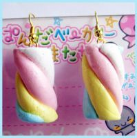 Marshmallows Earrings 2 by cherryboop