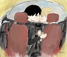 CAR SCENE COLORED by Courage-Earthworm8