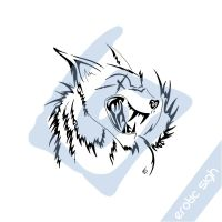 Tribal blind wolf by Erotic-sigh