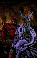The Glyph and Hellboy Team-up by ChaChaMan by Estonius