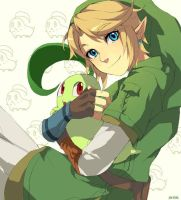 Chikorita and link by muse-kr