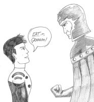Cosmic Boy versus Magneto by MShades